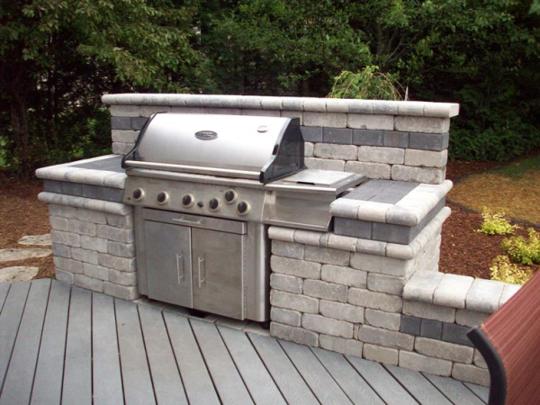 Captivating Grilling Is Part Of The Boston Culture, With Summers Filled With Backyard  Barbeques, Parties And Family Reunions. Building A Beautiful Stone BBQ Area  In ...